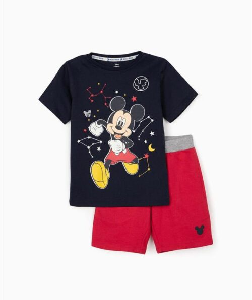CAMISETA Y SHORT PARA NIÑO 'MICKEY SPACE', AZUL OSCURO (Medium)