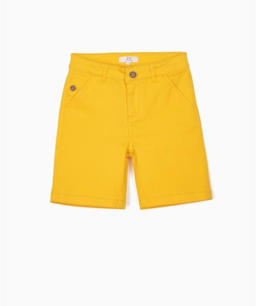 SHORT CHINO PARA NIÑO, AMARILLO 1 1 (Medium)