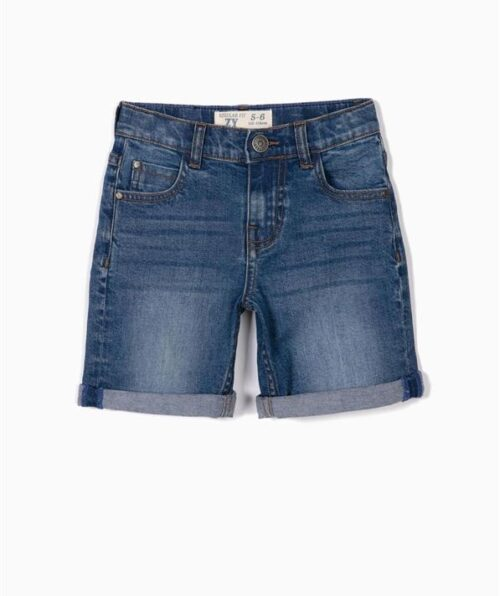 SHORT VAQUERO PARA NIÑO, AZUL (Medium)